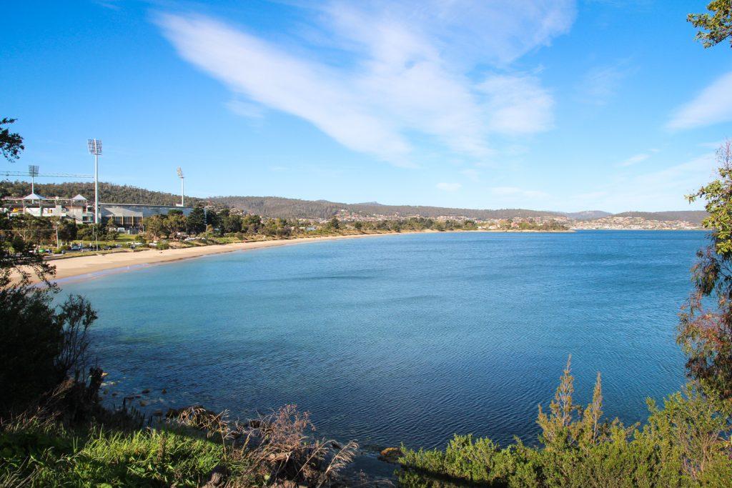 Bellerive Beach in Hobart, Tasmania