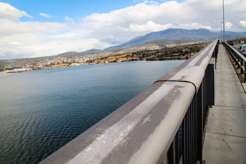 Views of Hobart from the Tasman Bridge