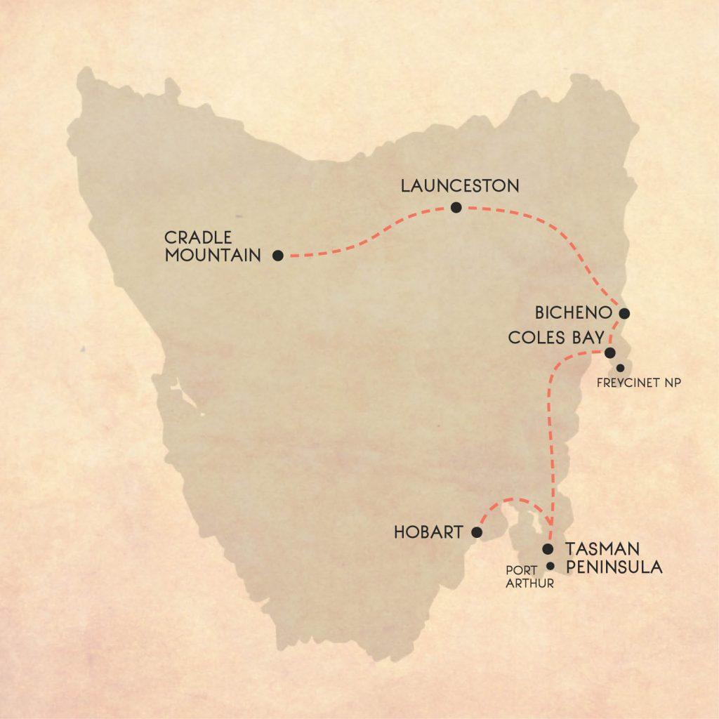 7 night Hobart to Launceston Tasmania road trip