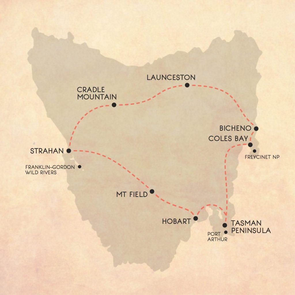 10 night Tasmania road trip itinerary from Hobart