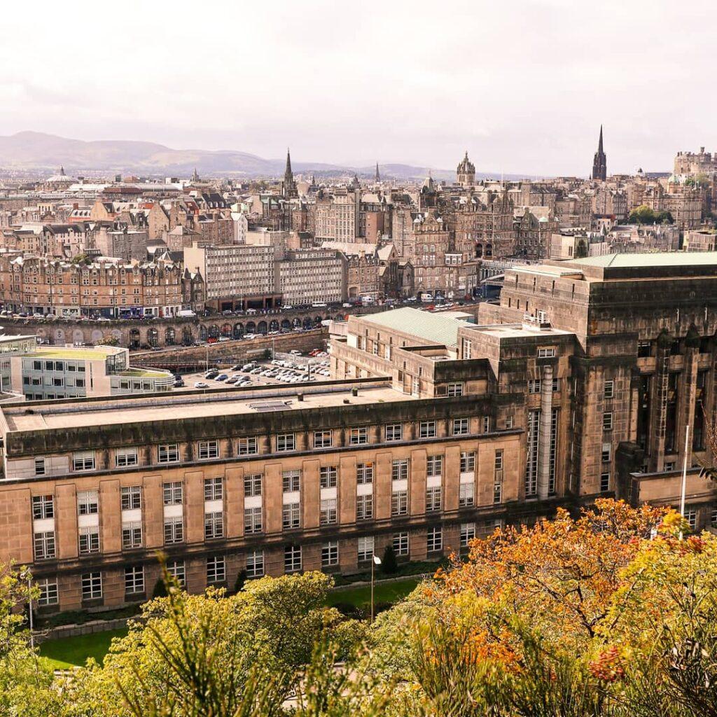 Views of Edinburgh from Calton Hill