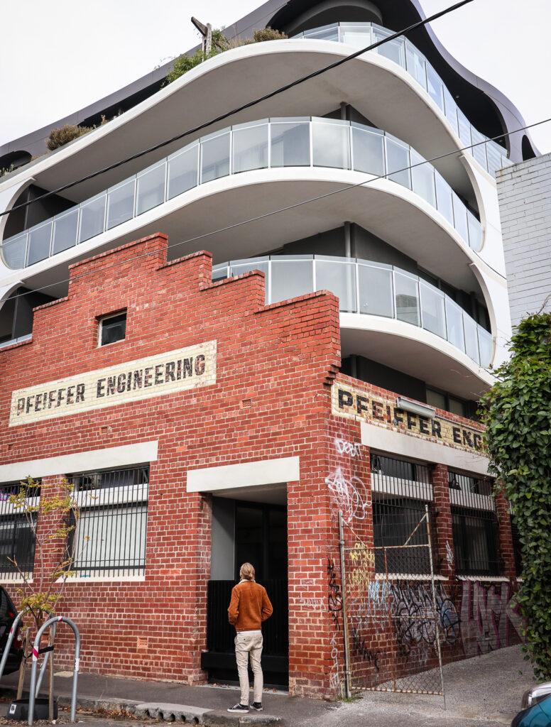 The facade of District Fitzroy hotel in Melbourne, Australia