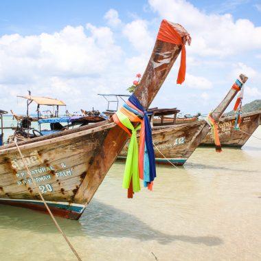 Long tail boats at Phi Phi Island, Thailand