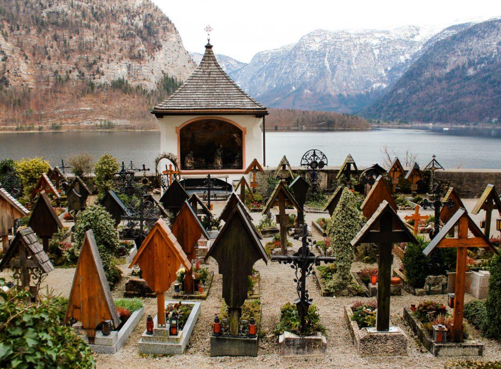 Graves in the Friedhof Hallstatt Cemetery