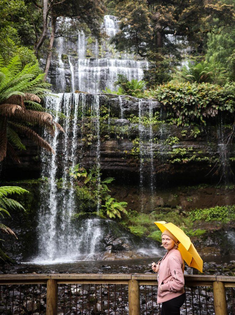 Russell Falls at Mt. Field National Park in Tasmania