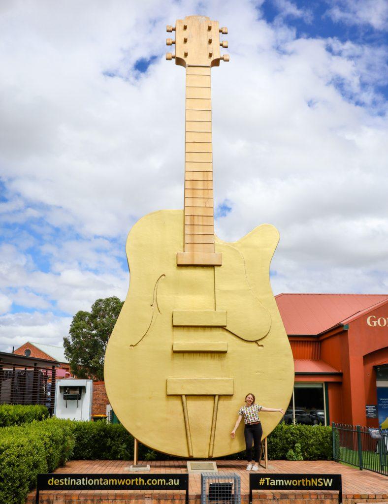 The Big Golden Guitar in Tamworth, NSW