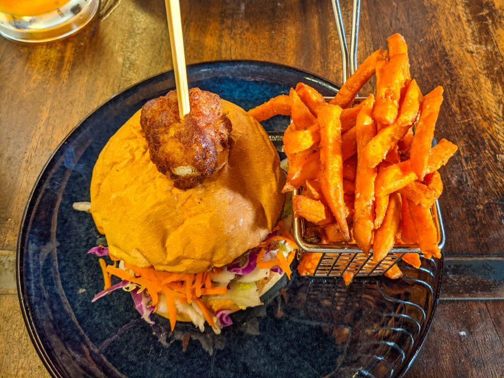 Veggie burger at Williamsburg Tamworth, NSW